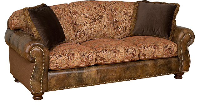 Comkings Sofa : Helen Leather/Fabric Sofa 56150-LF
