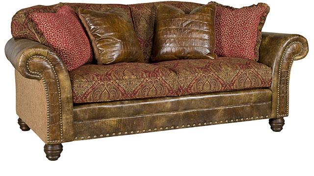 Katherine Leather Fabric Sofa