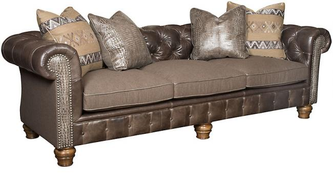 Empire Leather Fabric Sofa 2900 Lf
